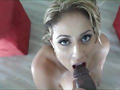 Blonde Cumshot Facial