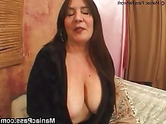 Big Boobs Brunette Granny Hairy