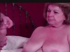 Granny Cumshot Mature Blowjob