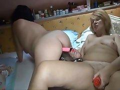 Blonde Granny Lesbian Masturbation