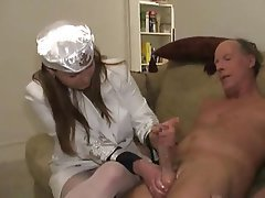 Handjob CFNM Old and Young