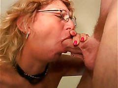 Blowjob Facial Mature Blonde