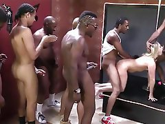 Blonde Gangbang Interracial MILF Squirt