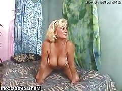 Blonde Facial Granny Hardcore