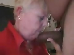 Blowjob Granny Handjob Interracial