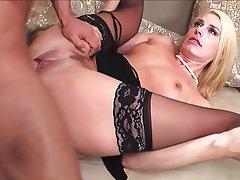Blonde Lingerie Mature MILF Stockings