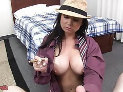 Big Boobs Handjob POV