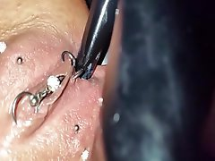 Close Up Latex Masturbation Piercing