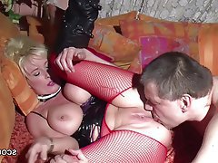 Big Boobs Blonde German MILF Old and Young