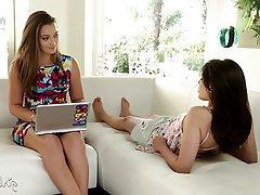 Brunette Lesbian Orgasm Pornstar