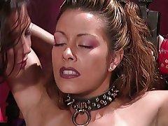 BDSM Lesbian Latex Blonde