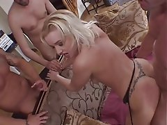 Blowjob Gangbang Group Sex Blonde