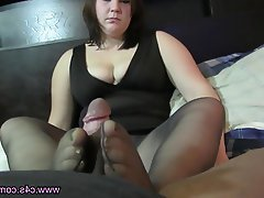 Blowjob Foot Fetish Nylon Stockings