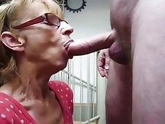 Blowjob Cumshot Facial Granny