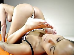 Brunette Czech Face Sitting Femdom Foot Fetish