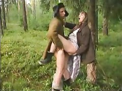 Cumshot Granny Old and Young Outdoor