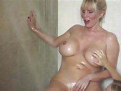 Blonde Lesbian Mature Shower
