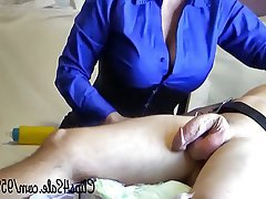 Femdom Handjob Old and Young