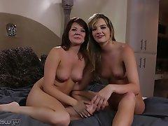 Brunette Lesbian Pornstar Casting