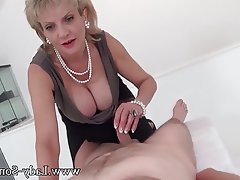 Big Boobs British Handjob Massage MILF