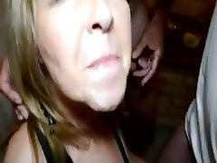 Amateur Cuckold Cum in mouth
