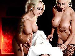 Big Boobs Blonde Lesbian Nerd