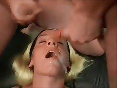 Blonde Bukkake Cum in mouth Cumshot
