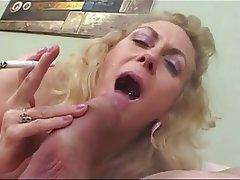 Blonde Blowjob Granny Mature