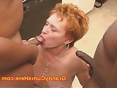Cum in mouth Granny Interracial Mature