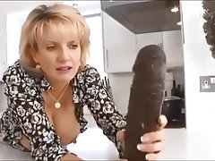 Babe Dildo Interracial MILF