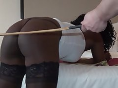BDSM Old and Young Skinny Spanking