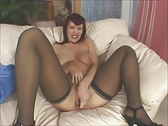 Anal Big Butts Dildo Mature Stockings