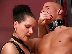 BDSM German Handjob Masturbation