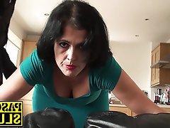 Amateur Brunette Mature Spanking