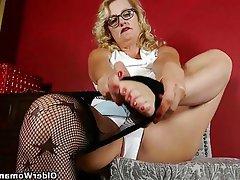 Mature Stockings MILF Granny