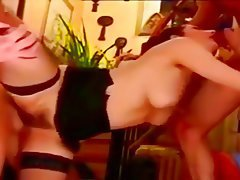 Anal Vintage Stockings Double Penetration