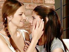 Brunette Lesbian Masturbation
