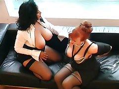 Big Boobs British Lesbian MILF