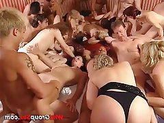 Group Sex German Bukkake Orgy