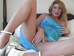 Babe Masturbation MILF Nylon
