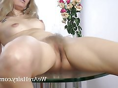 Blonde Hairy Masturbation Mature