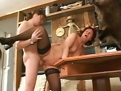 Cumshot German Hardcore Old and Young Stockings