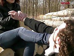 Femdom Foot Fetish Italian Outdoor BDSM