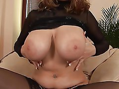 Big Boobs Masturbation Stockings