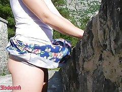 Amateur Upskirt Flashing Outdoor