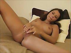 Babe Brunette Masturbation Softcore
