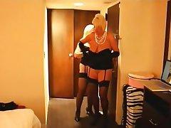 Lesbian Stockings Granny