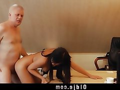 Brunette Cunnilingus Doggystyle Old and Young