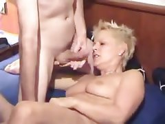 Blonde Double Penetration Mature Threesome