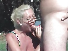Blonde Cumshot Mature Granny